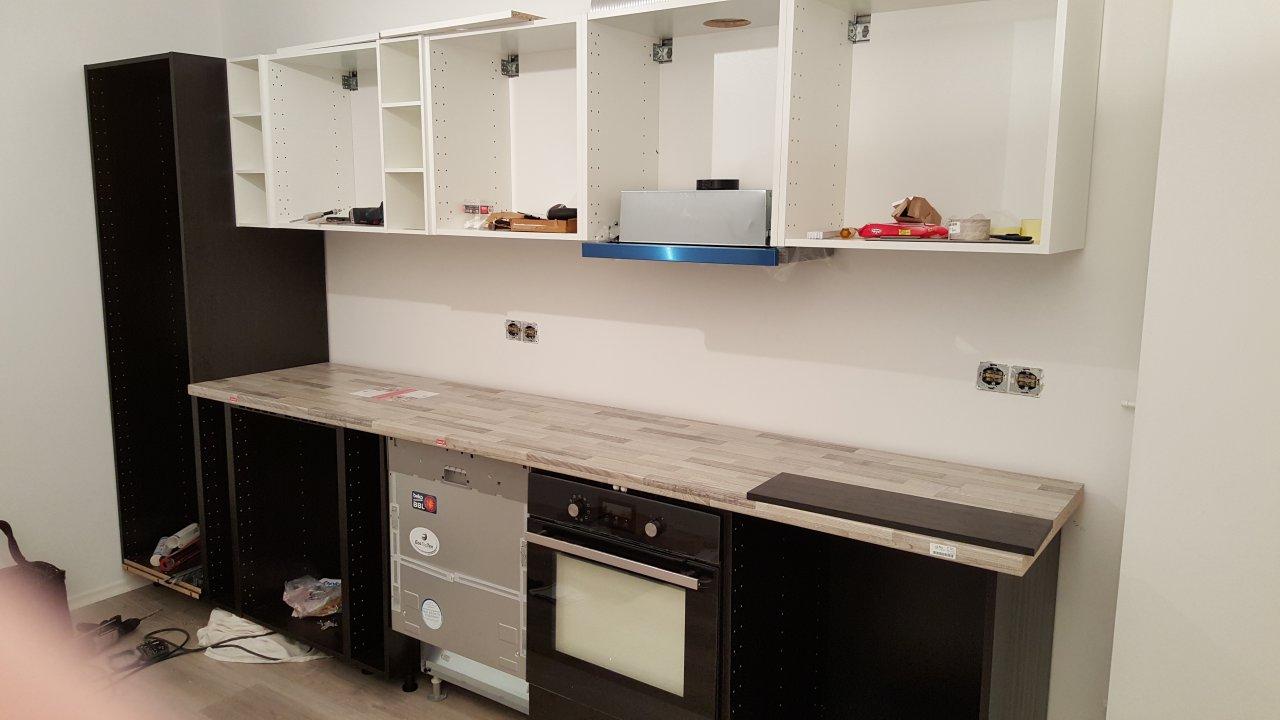 Die Küche - Der Aufbau