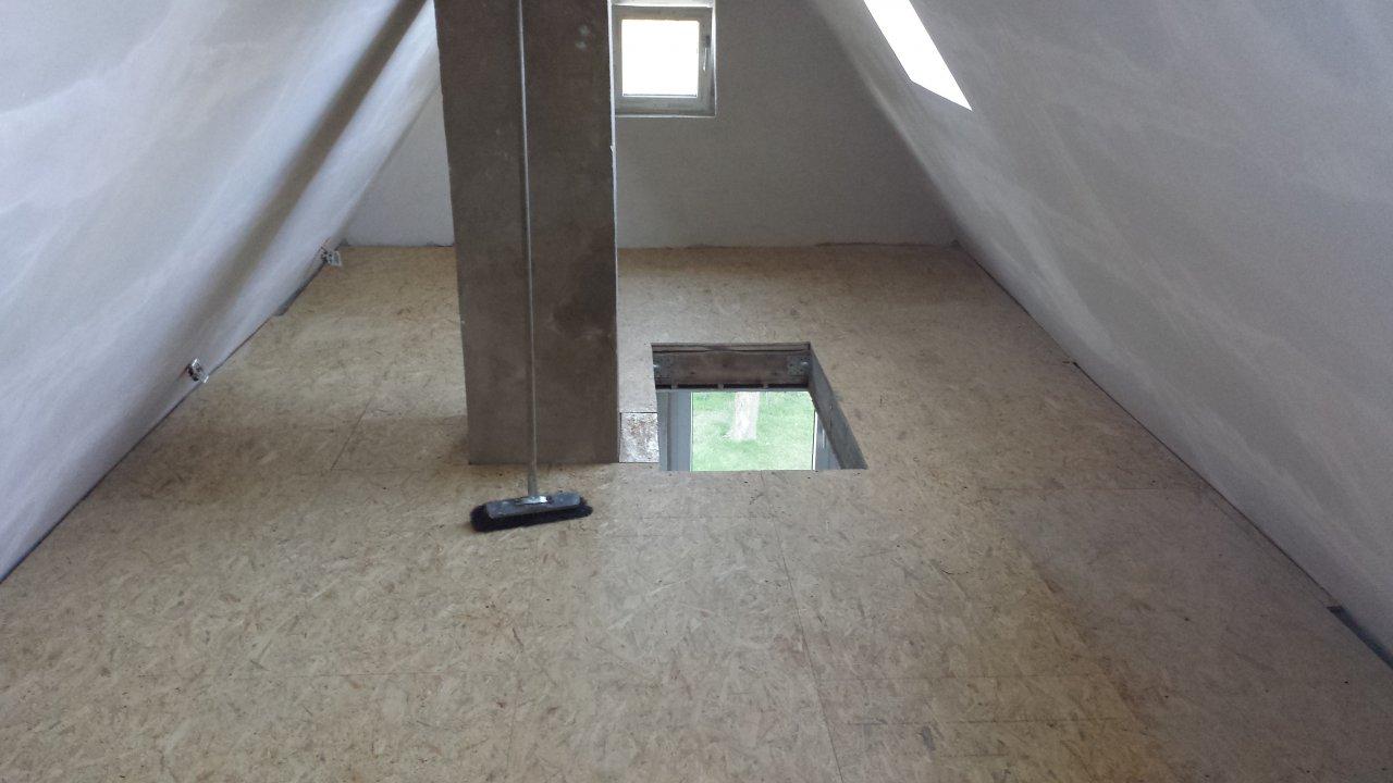 Der Dachboden ist ausgebaut