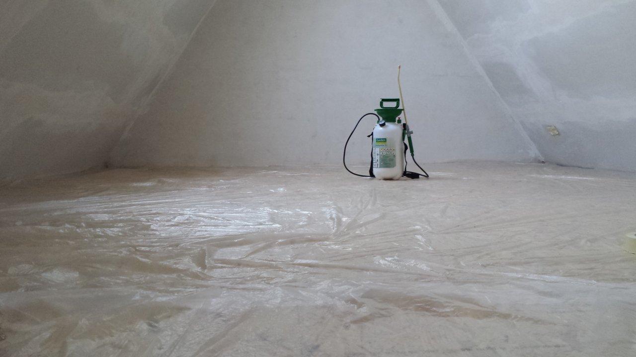 Dachboden grundieren